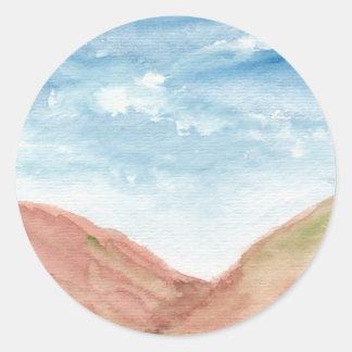 Watercolor valley stickers