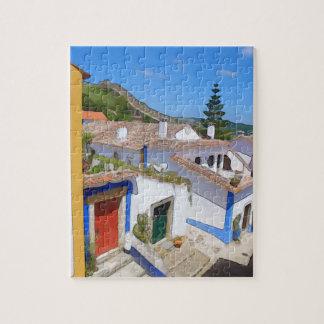 Watercolor village jigsaw puzzle