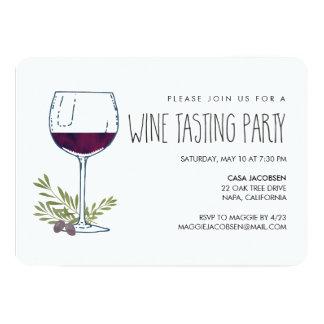Watercolor Vino | Wine Tasting Party 13 Cm X 18 Cm Invitation Card