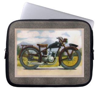 Watercolor Vintage Motorcycle Laptop Computer Sleeves