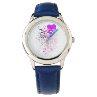 Watercolor violet Watch