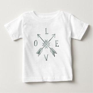 Watercolor Wanderlust Adventure III   Love Baby T-Shirt