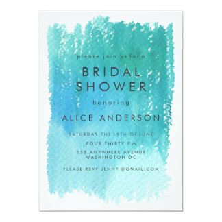 Watercolor Wash Blue Bridal Shower Invite
