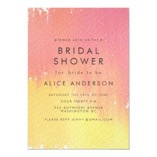 Watercolor Wash Sunset Bridal Shower Invite