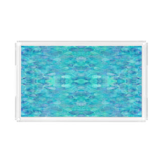 Watercolor Water Droplets Pattern Vanity Tray