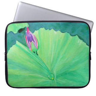 Watercolor water lily laptop sleeve