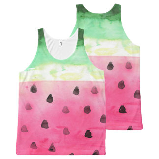 Watercolor Watermelon All-Over Print Tank Top