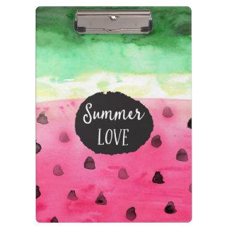 Watercolor Watermelon Clipboard