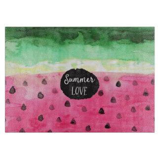 Watercolor Watermelon Cutting Board