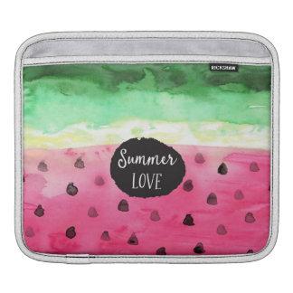 Watercolor Watermelon iPad Sleeve