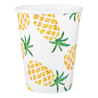 Watercolor Watermelon party paper cups