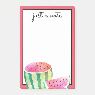 Watercolor Watermelon Post-it Notes