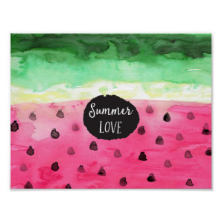 Watercolor Watermelon Poster