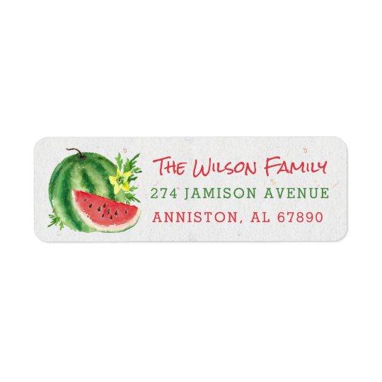 Watercolor Watermelon Return Address Labels