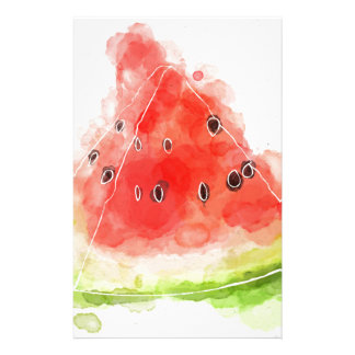 Watercolor Watermelon Stationery Paper