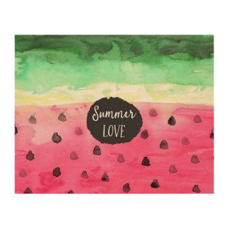 Watercolor Watermelon Wood Prints