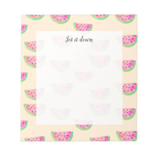 Watercolor Watermelons Notepad