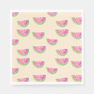 Watercolor Watermelons Paper Napkins