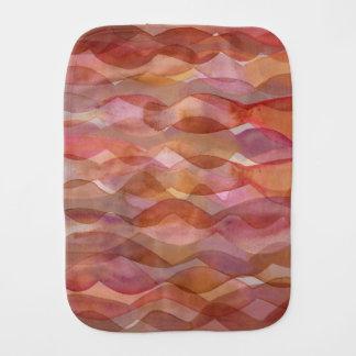 Watercolor waves baby burp cloth