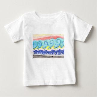 Watercolor Waves Baby T-Shirt