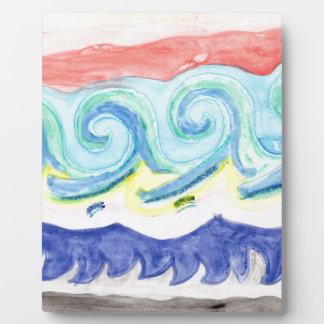 Watercolor Waves Plaque