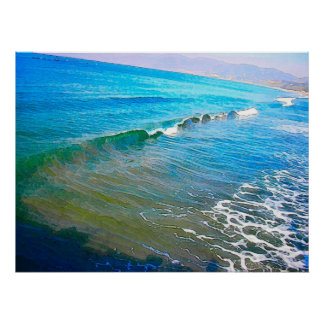 Watercolor Waves Poster