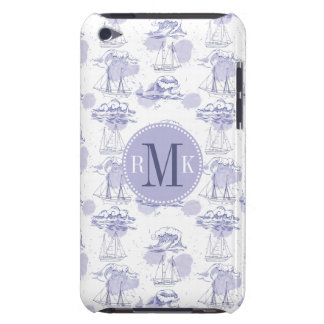 Watercolor Waves & Ships Pattern Case-Mate iPod Touch Case