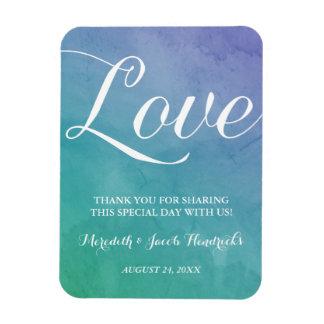 Watercolor Wedding Favor Rectangular Photo Magnet