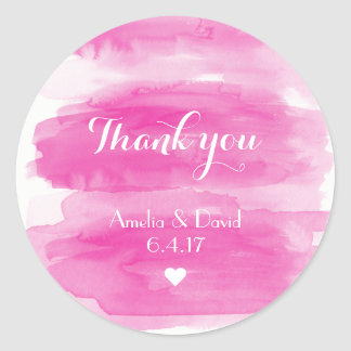 Watercolor wedding favor stickers