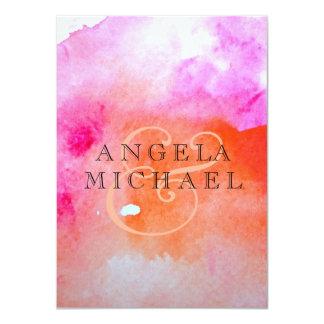 Watercolor Wedding Print 4.5x6.25 Paper Invitation Card