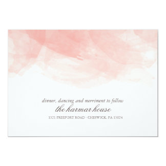 Watercolor Wedding Reception Card 13 Cm X 18 Cm Invitation Card
