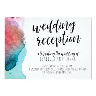 Watercolor Wedding Reception Only Invitation