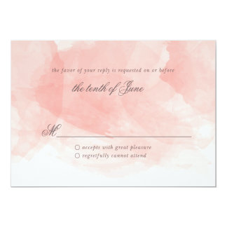 Watercolor Wedding Response Card