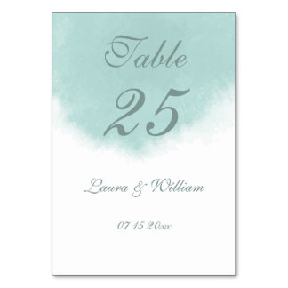 Watercolor Wedding Table Number Cards Table Cards