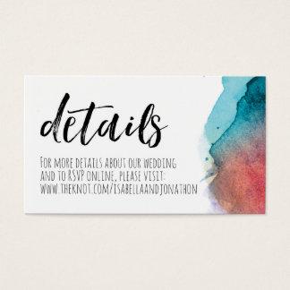 Watercolor Wedding Website Enclosure Card