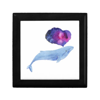 Watercolor Whale Gift Box