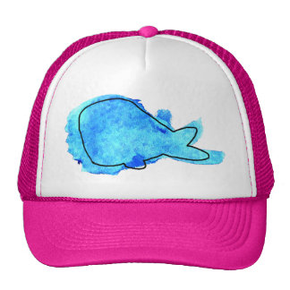 Watercolor Whale Mesh Hat