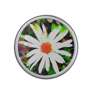 Watercolor White Daisy Speaker