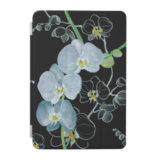 Watercolor White Orchids Pattern iPad Mini Cover