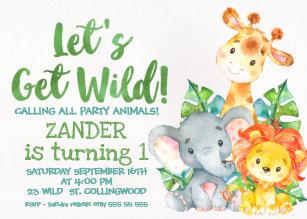 animal birthday invitations zazzle com au