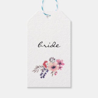 Watercolor Wildflower Wedding Escort Card Gift Tags