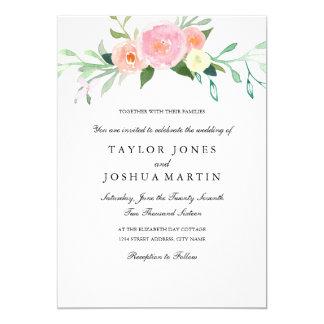 Watercolor Wildflower Wedding Invitation
