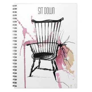 Watercolor Windsor Chair Notebook (Sit Down)