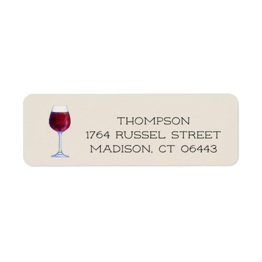 Watercolor Wine Personalised Return Address Labels