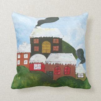 Watercolor Winter Landscape Cushion