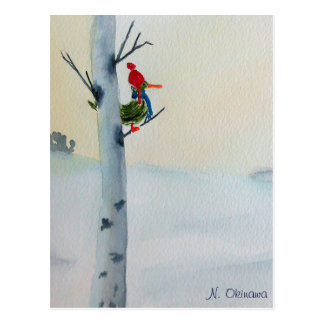 Watercolor Winter painting