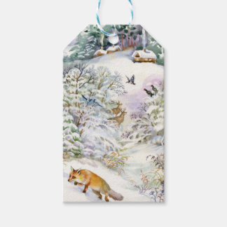 Watercolor Winter Scene Pack Of Gift Tags