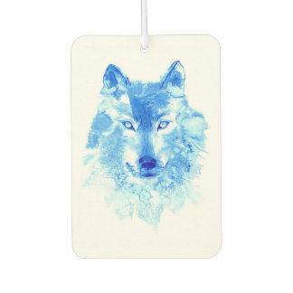 Watercolor Winter Wolf Car Air Freshener
