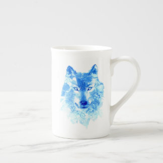 Watercolor Winter Wolf Tea Cup