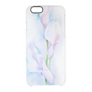 watercolor with 3 callas clear iPhone 6/6S case
